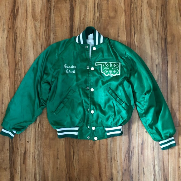 785f8c824620 Jackets & Coats | St Patricks Day Jacket Green Satin Bomber | Poshmark